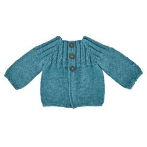Babybukser med seler strikkekit Egholm Strik