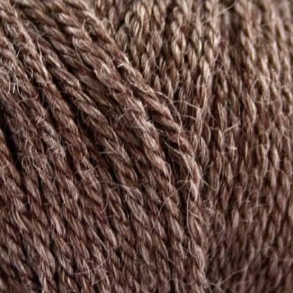 No.4 Organic Wool + Nettles : Choko brun