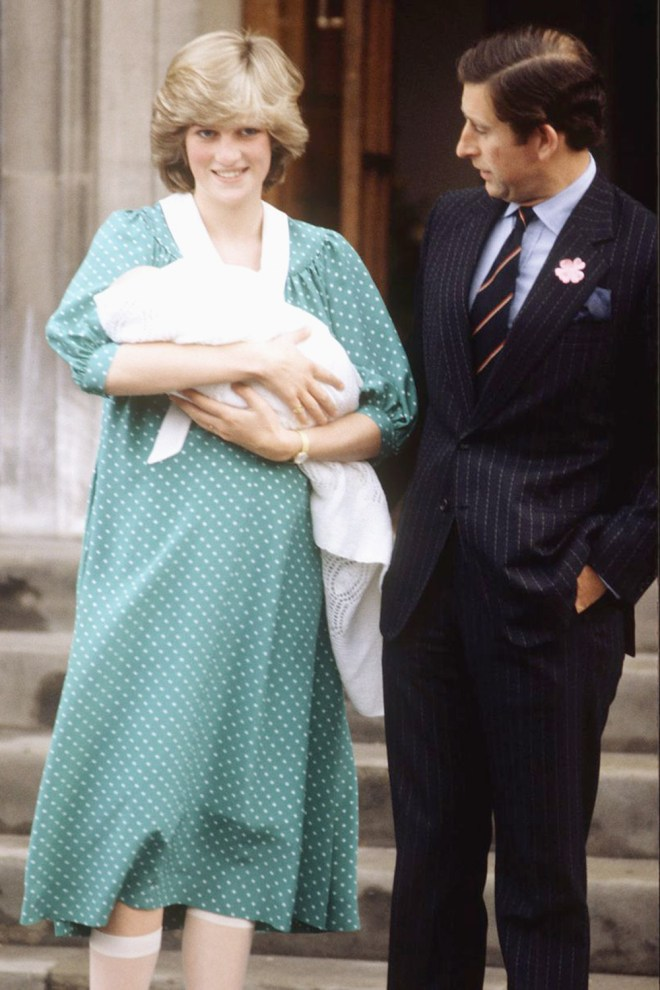 Prince Charles and Diana with newborn William