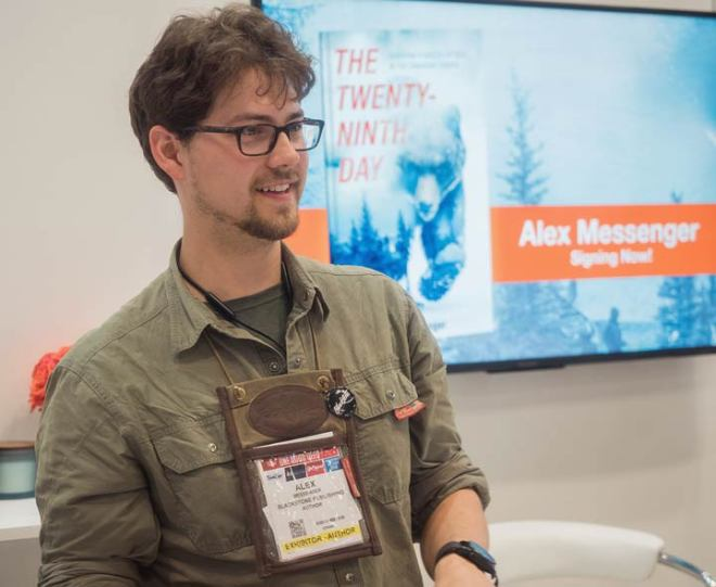 Alex Messenger at Book Con New York June 2019