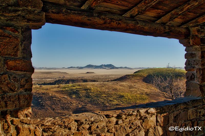 Window on Davis Mountains