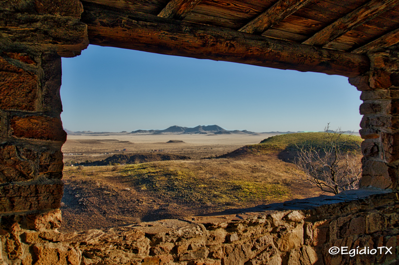 Window on Davis Mountains