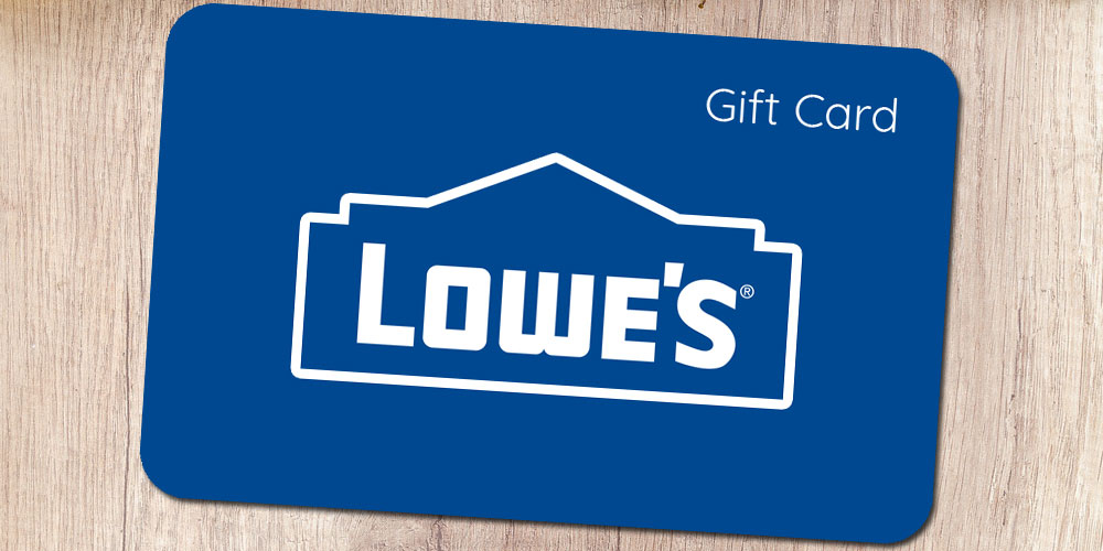 Lowe's Gift Card 2018: The Perfect Gift for Furnishing the Home!