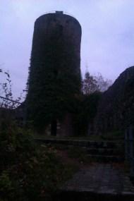 Mercredi 30/10. Petit déjeuner à 5 h 30, puis en route à 6 h 00, afin d'atteindre Wieden (l'étape du jour) avant la nuit qui tombe autour de 17 h 15. Passage à l'aube par le château-fort en ruine de Sausenburg.