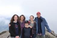 Moro Rock dans le Sequoia National Park. Altitude : 2050 m. Température : environ 5 degrés.