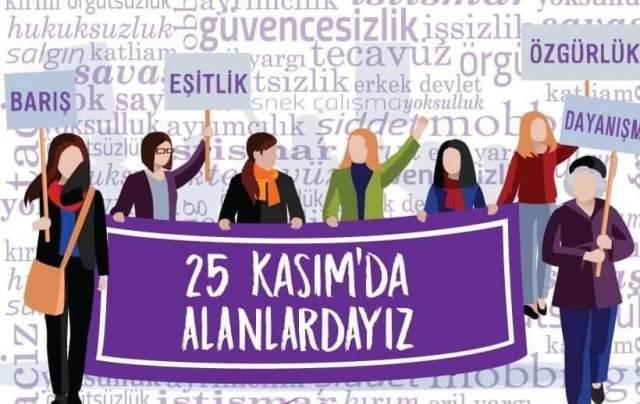 Biz KESK'li Kadınlar 25 Kasım'da Yaşamımızı Savunmak için Alanlardayız