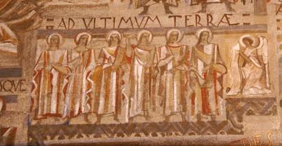 Détail des fresques d'Untersteller de l'église Saint Pierre de Chaillot