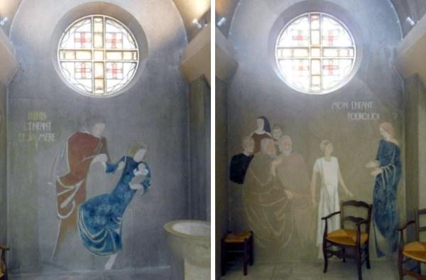 J. Mesnet, fresques de la chapelle Sainte Famille(© Jérôme Bohl).