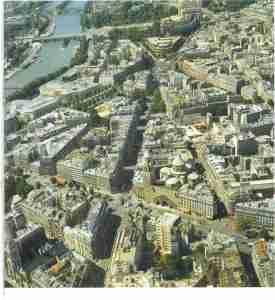 Vue aérienne du quartier  (© SPC).