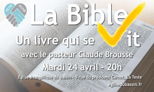 La bible, un livre qui se vit !