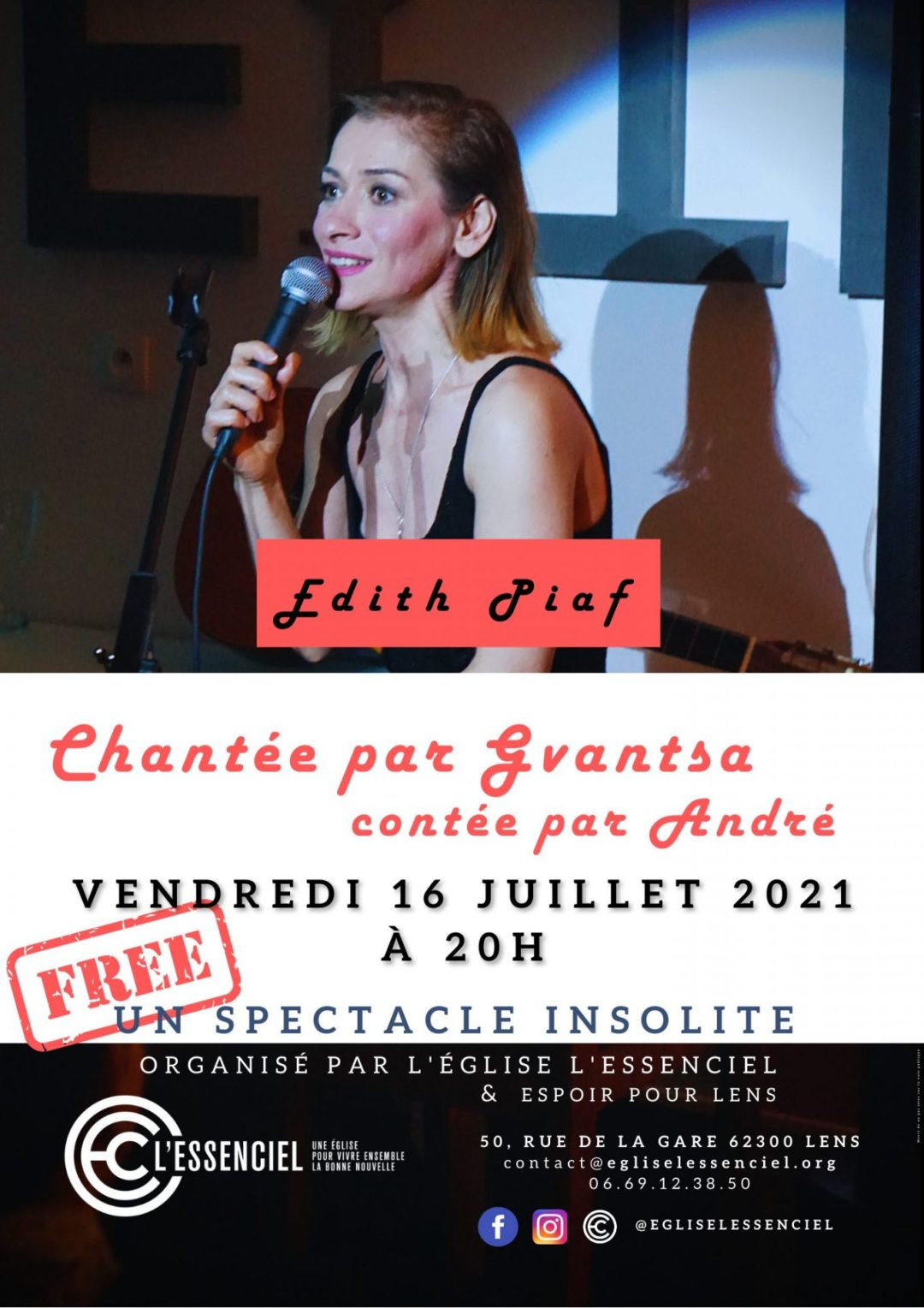 Concert Edith Piaf chanté par Gvantsa