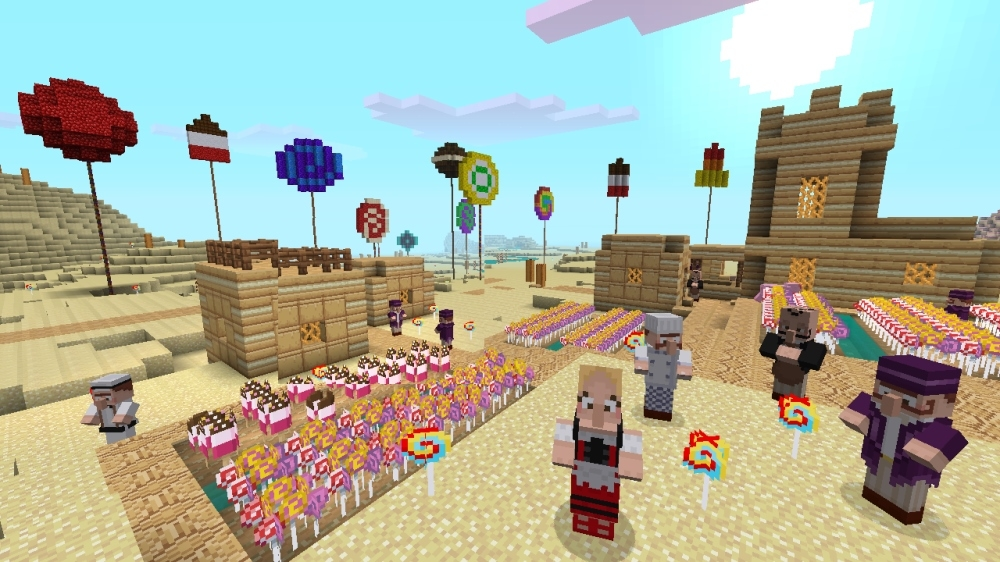 Minecraft Xbox 360 Edition Candy Texture Pack Now