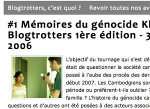 Blogtrotters au Cambodge - 1ere édition