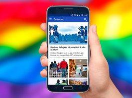 Aplicación móvil para refugiados LGBT