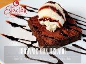 Brownie con helado en Bogotá