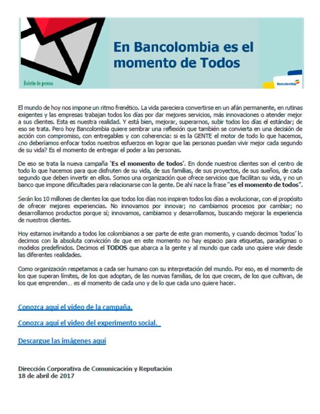 """Respuesta a la supuesta campaña gay de Bancolombia """"es el momento de TODOS"""""""