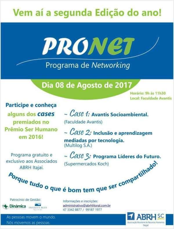 Flyer Pronet - Foto: Divulgação