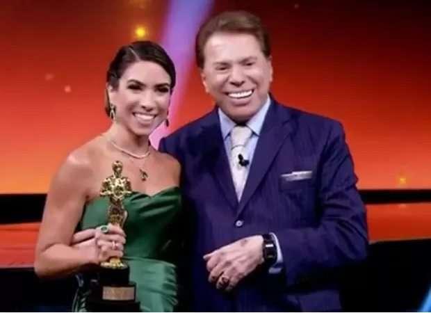 Patricia Abravanel e Silvio Santos trofeu imprensa - Foto reprodução internet