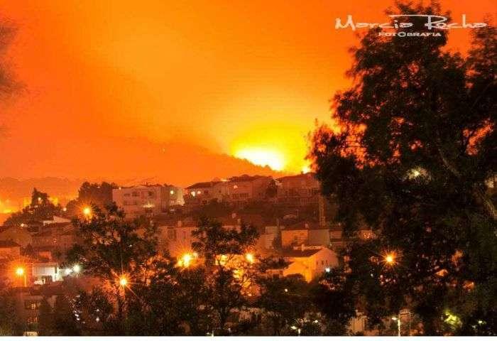 Incêndio destrói parte da cidade de Braga em Portugal - foto: Márcia Rocha