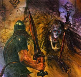 john_howe_beowulf_beowulf and grendels mother