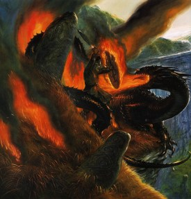 john_howe_beowulf_beowulfs final battle_