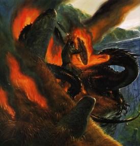 john_howe_beowulf_beowulfs final battle_