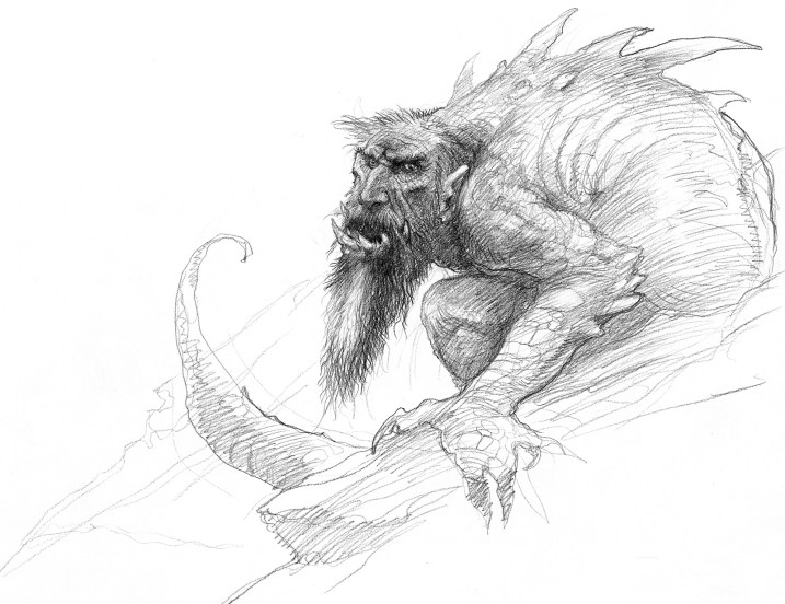 john_howe_beowulf_the transforming of fafnir