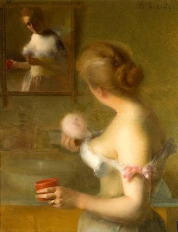 1875, tableau d'Étienne Tournes, La Toilette