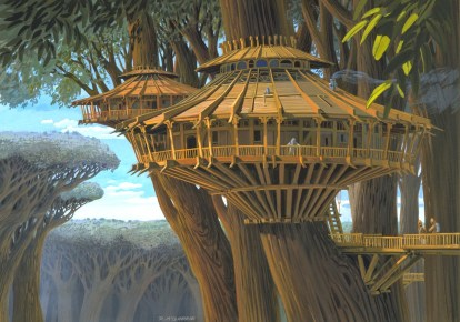 ralph-mcquarrie-starwars-ewok-treehouse
