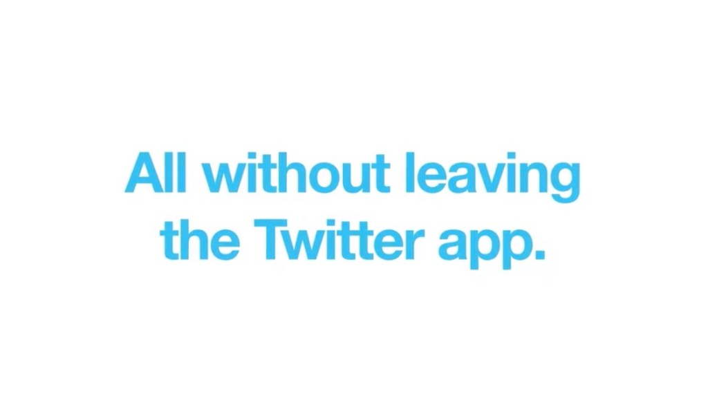 All without leaving the Twitter app.