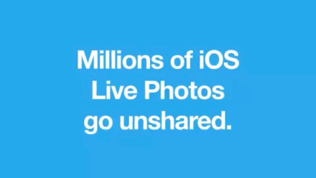 Millions of iOS Live Photos go unshared