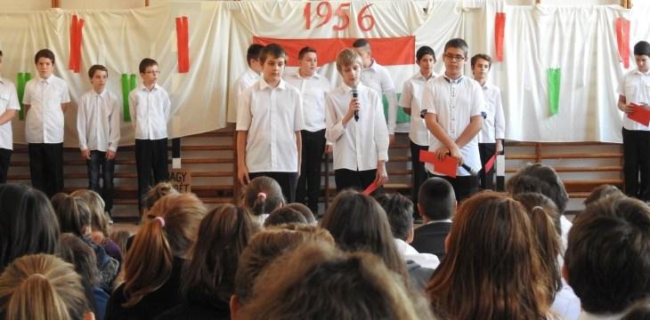 Iskolai megemlékezés október 23-án