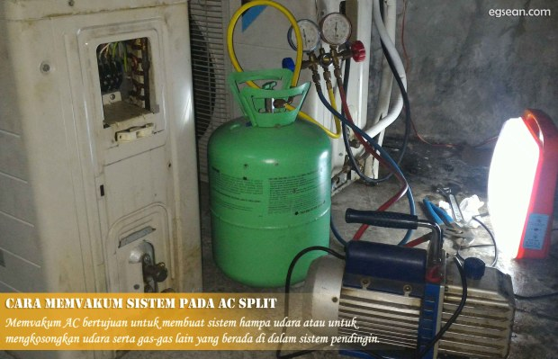 Cara Memvakum Sistem pada AC Split