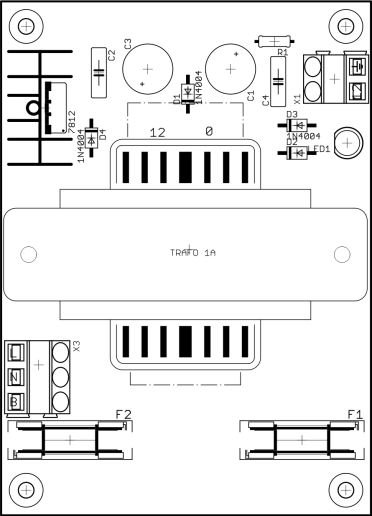 Tata Letak Komponen Rangkaian Power Supply Cara Membuat Layout dan Mencetak PCB