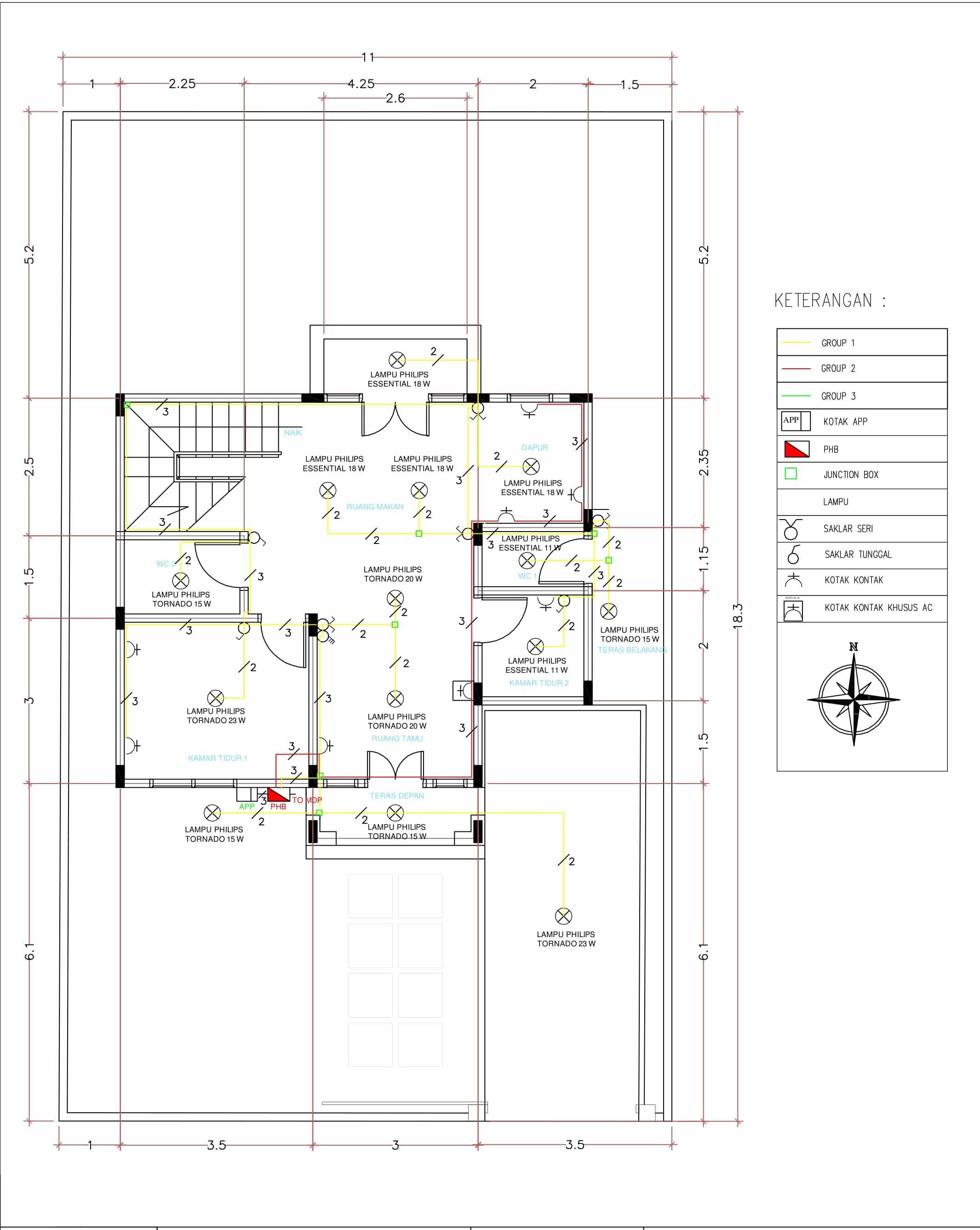 Perencanaan instalasi listrik rumah bertingkat dua lantai egsean instalasi rumah lantai 1 ccuart Choice Image