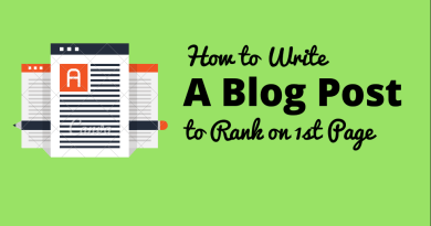 How to Write a Blog Post that Rank