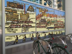 Mural at SF Transit Center