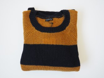 Long-Sleeve Cozy Crewneck Sweater Black & Brown Stripes Who What Wear, Target