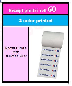 2 + Receipt printer roll 60