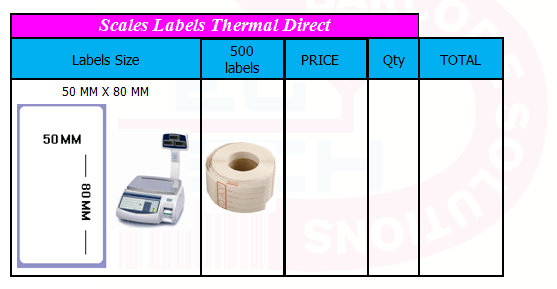 SCALES BARCODE LABELS (5)