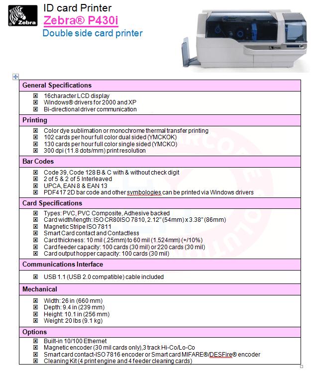 Zebra® P430i