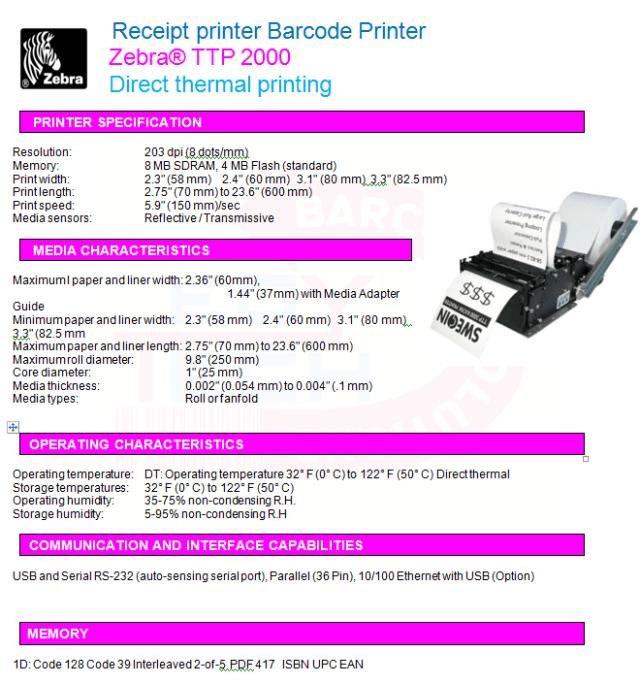 Zebra® TTP 2000