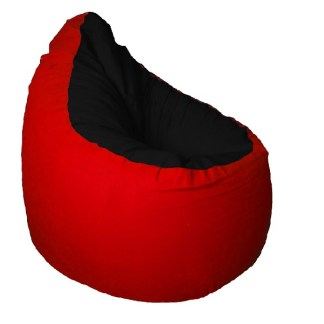 Medium babzsák - fekete-piros - egyedibabzsak.hu