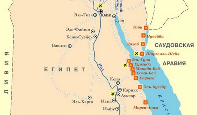 Resorts Of Egypt On The Red Sea Photos Location On The Map Prices And Reviews