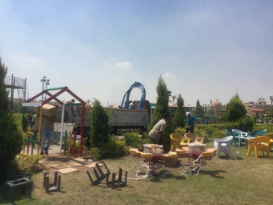 تطوير منطقة العاب الاطفال فى نادى جرين هيلز