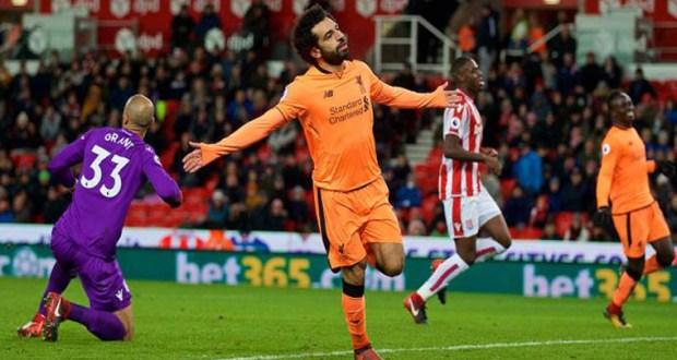 أهداف محمد صلاح اليوم مع ليفربول فى ستوك سيتى 2017-2018