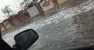 سقوط الامطار في مدينة 6 اكتوبر اليوم