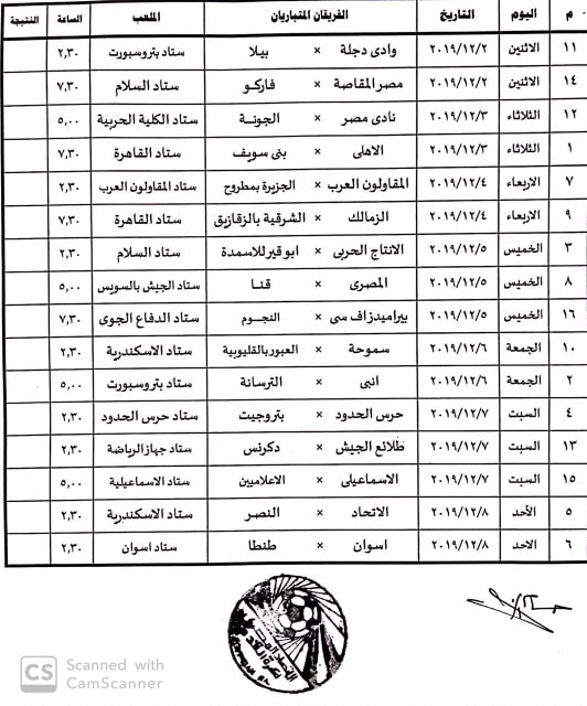 مواعيد مباريات كأس مصر دور ال 32