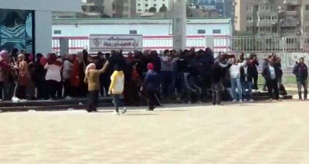 مظاهرة موظفي نادي الزمالك