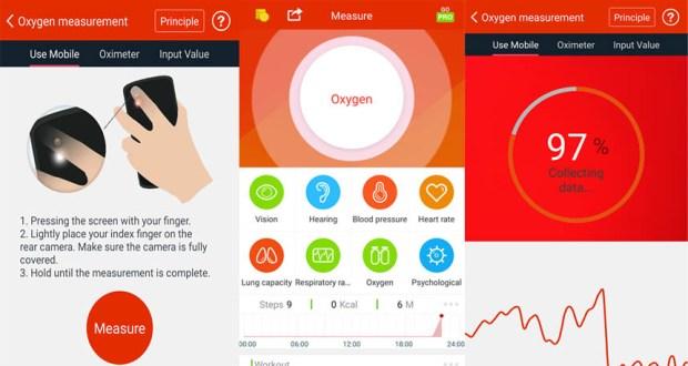 تطبيق قياس نسبة الاكسجين في الدم oximeter app